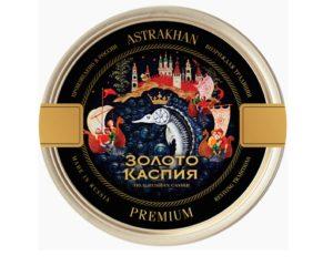 Икра осетра забойная Золото Каспия Premium вакуум ж.б 250г
