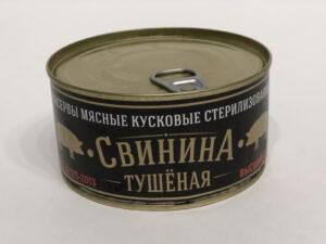 Свинина тушеная вс ГОСТ 325гр