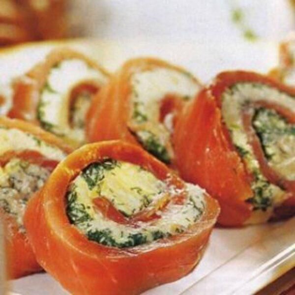 рулеты из филе лосося (семги)