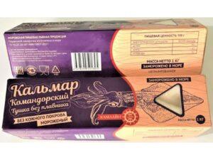 Кальмар-тушка б.плавн. б.кожи упаковка 1кг.